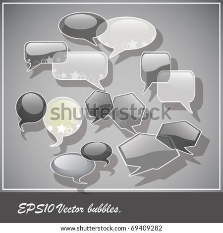 Speach bubbles. vector eps10 - stock vector