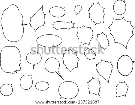 Speak bubbles set