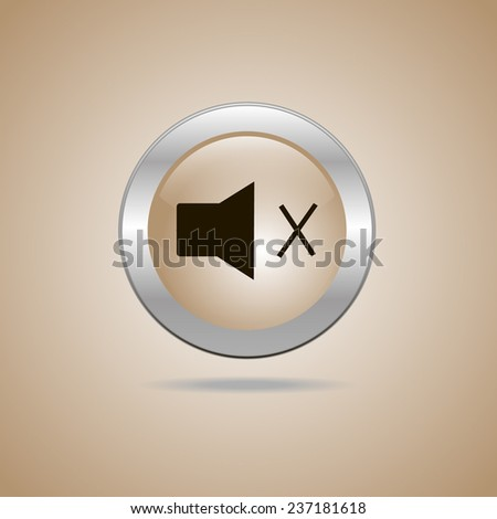 speaker icon - stock vector