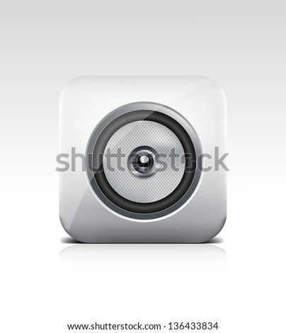 Speaker icon eps10 - stock vector