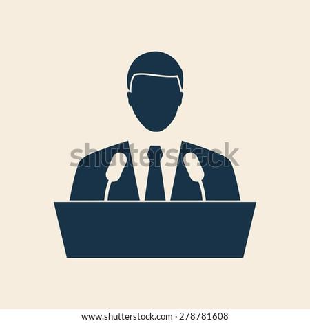 SPEAKER ICON, MALE SPEAKER,SPEAKER MAN ILLUSTRATION VECTOR - stock vector