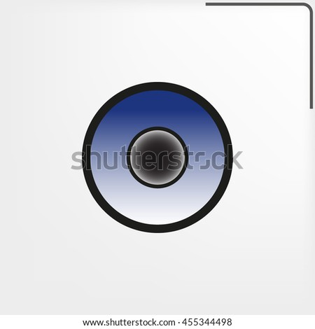 speaker icon, vector illustration