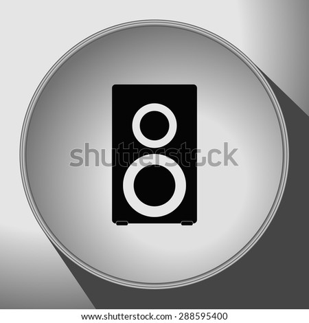 speaker icon, vector illustration. Flat design style. - stock vector