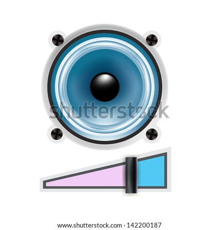 speaker icon with volume sign isolated
