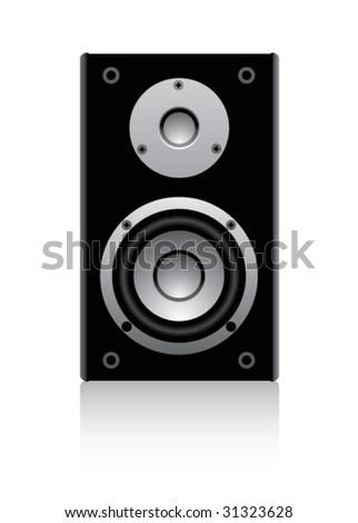 speaker on a white background - stock vector
