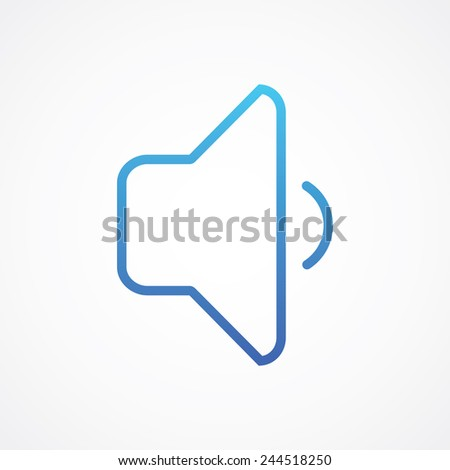 Speaker silent volume icon. Simple flat style vector illustration - stock vector