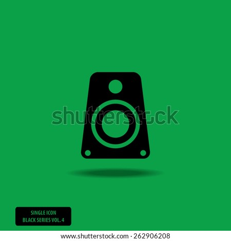 Speaker - Single Icon Series vol. 4 - stock vector