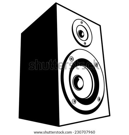 speaker vector stock vector 230707960 shutterstock rh shutterstock com speaker vector psd speaker vector graphics photoshop brush