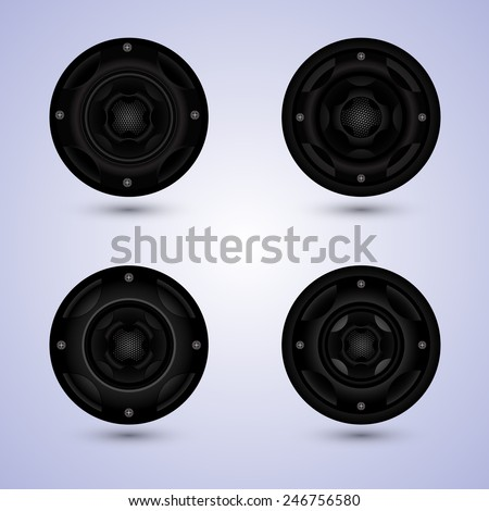 speakers set isolated on background, speaker sets vector