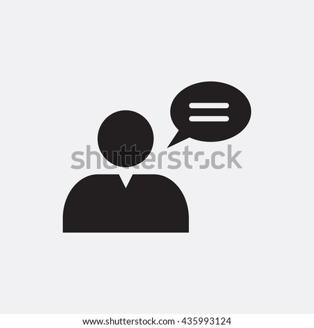 Speaking man Icon, Speaking man Icon Eps10, Speaking man Icon Vector, Speaking man Icon Eps, Speaking man Icon Jpg, Speaking man Icon, Speaking man Icon Flat, Speaking man Icon App, Speaking man - stock vector
