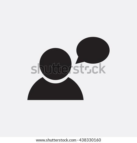 Speaking man Icon, Speaking man Icon Eps10, Speaking man Icon Vector, Speaking man Icon Eps, Speaking man Icon Jpg, Speaking man Icon, Speaking man Icon Flat, Speaking man Icon App - stock vector