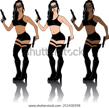 Special Agent Girl - stock vector