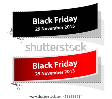 special black friday labels - stock vector