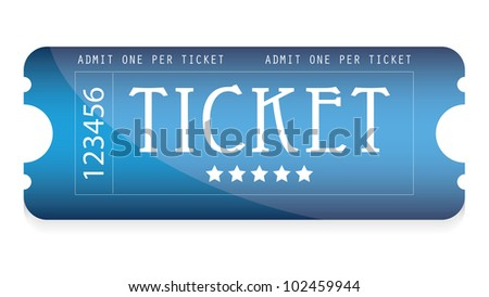 special blue movie ticket for your website - stock vector