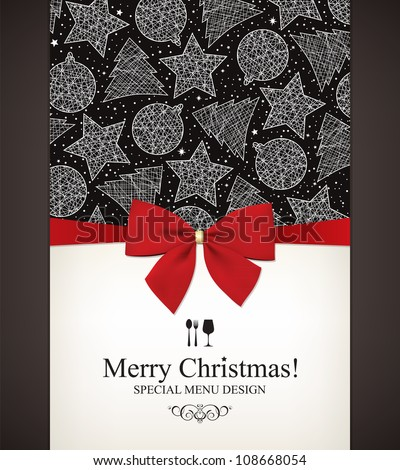 Special Christmas menu design - stock vector