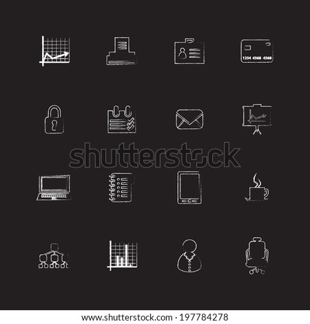 special flat UI icons for web and mobile applications - stock vector