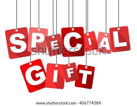 special gift, red vector special gift, flat tag special gift, element special gift, sign special gift, design special gift, background special gift, illustration special gift, picture special gift - stock vector