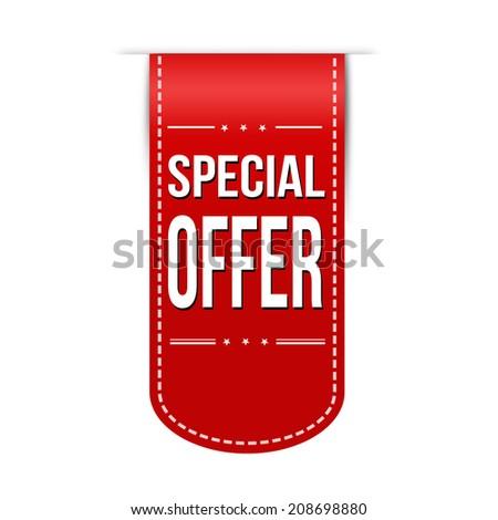 Special offer banner design over a white background, vector illustration - stock vector