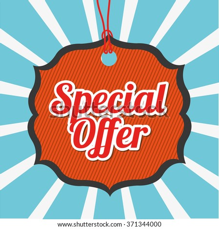 special offer design  - stock vector