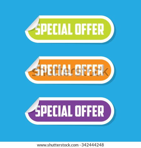 Special Offer Folded Paper Labels