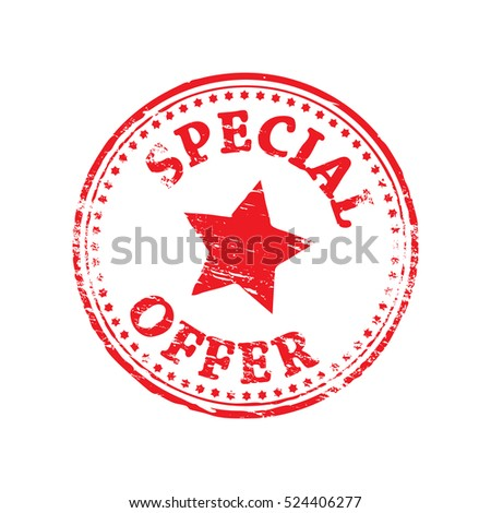 Special offer grungy rubber stamp symbol vector illustration