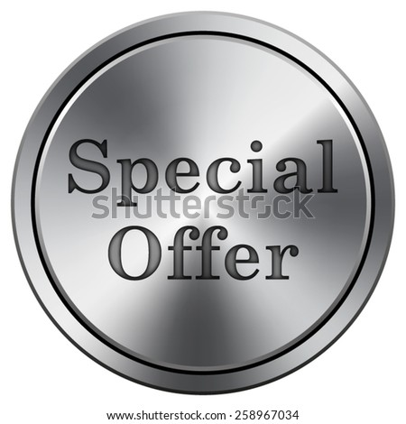 Special offer icon. Internet button on white background. EPS10 Vector.  - stock vector