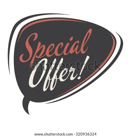 special offer retro speech bubble  - stock vector
