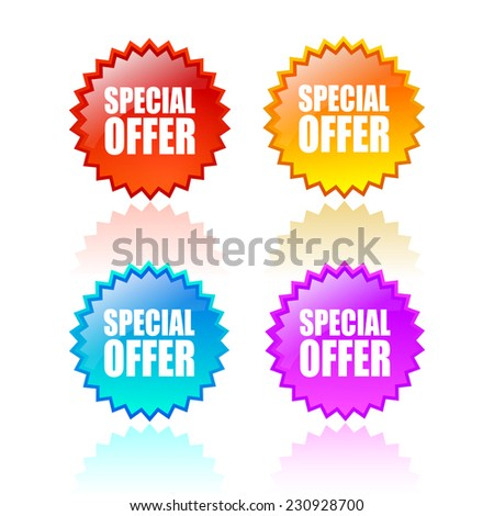 Special offer star icon - stock vector