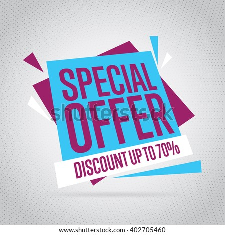 Special offer vector banner. Isolated special offer tag. Sale tag modern style. Special offer sticker. Sale element. Market offer banner. Special offer template. Tag vector. Special offer badge icon. - stock vector