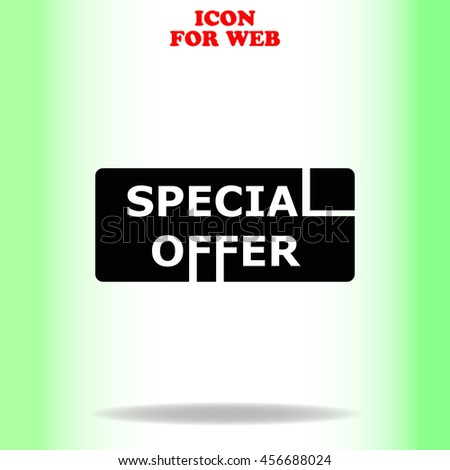 Special offer web icon. Black illustration on white background - stock vector