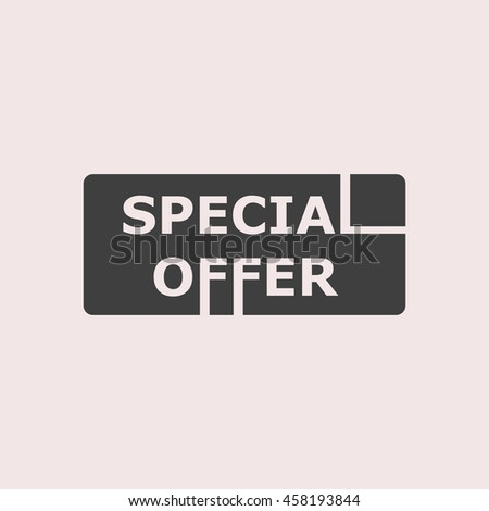 Special offer web icon. Isolated illustration - stock vector