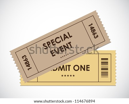 special old entrance tickets - stock vector