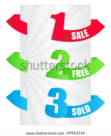 special paper tags - stock vector