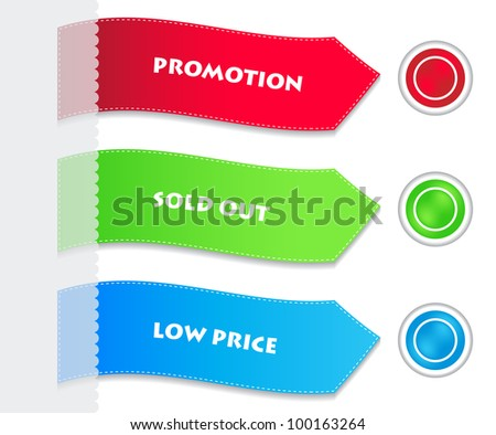 special paper tags and buttons - stock vector