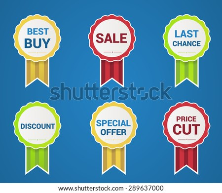Special price and quality tag collection vector illustration