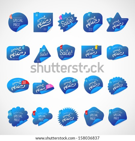 Special Price Stickers Set - Isolated On Background - Vector Illustration, Graphic Design Editable For Your Design.