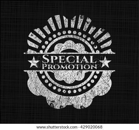 Special Promotion chalk emblem - stock vector