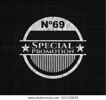 Special Promotion on chalkboard - stock vector