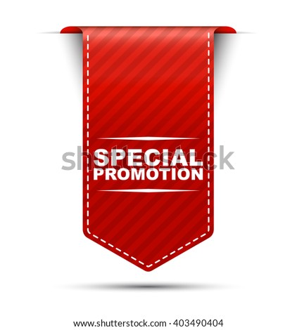 special promotion, red vector special promotion, red banner special promotion, element special promotion, sign special promotion, design special promotion, illustration special promotion - stock vector
