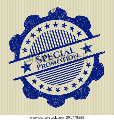 Special Promotion rubber seal - stock vector