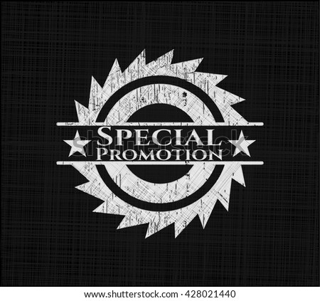 Special Promotion written on a chalkboard - stock vector