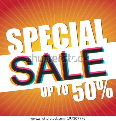 Special Sale Up to 50% - Vector Poster - stock vector