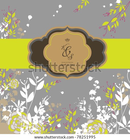 special season card design- wedding card- birthday card - stock vector