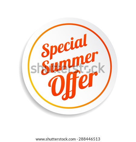 Special Summer Offer Sticker