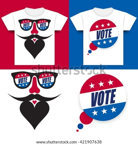 Special T-shirt Design Concept Designed for the  United States Presidential Election of 2016 - stock vector