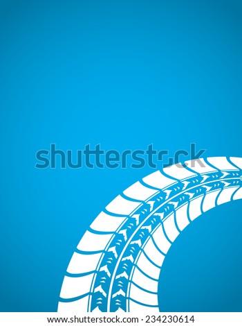 special tire track design - stock vector