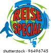 special travel in german - stock vector