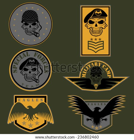 Stock images similar to id 197880287 desert military for Military patch template