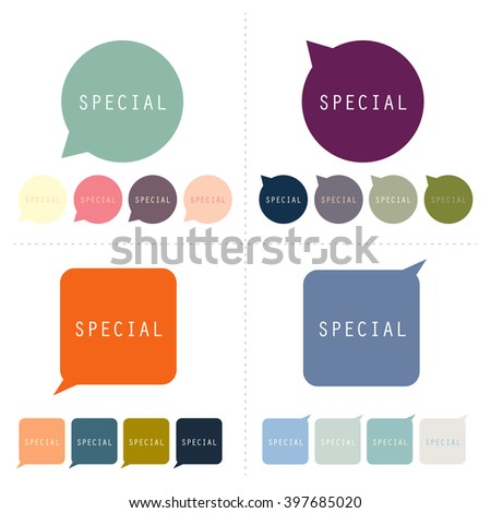 special vector speech bubble set. - stock vector