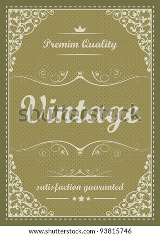 Special vintage background - stock vector